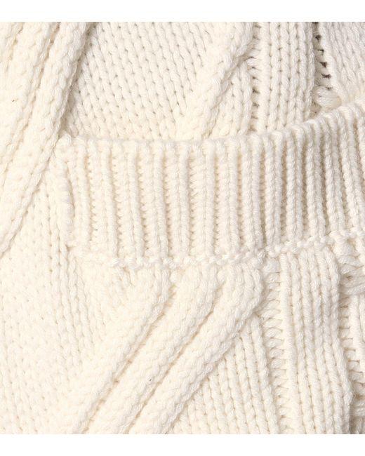 Prada White Cardigan aus Kaschmir