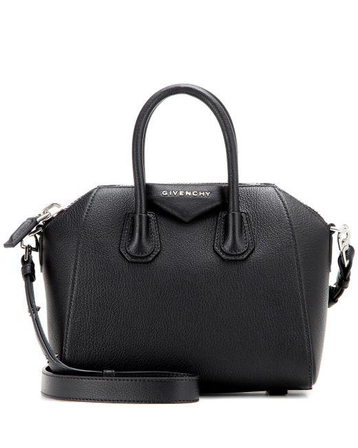 Givenchy Black Antigona Mini Leather Tote Bag