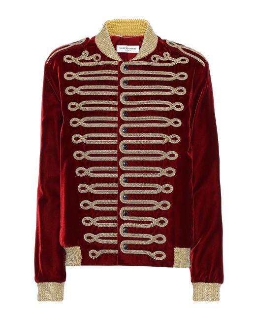 Saint Laurent Multicolor Embroidered Velvet Jacket
