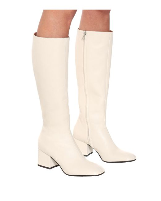 Marni White Leather Knee-high Boots