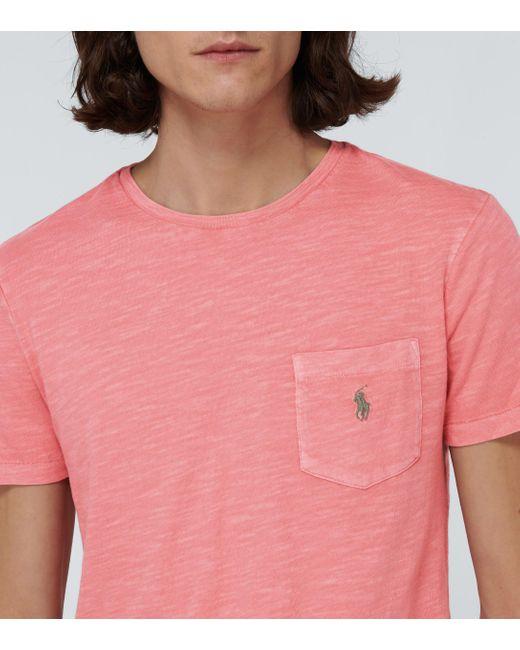 Polo Ralph Lauren T-Shirt aus Baumwolle in Pink für Herren