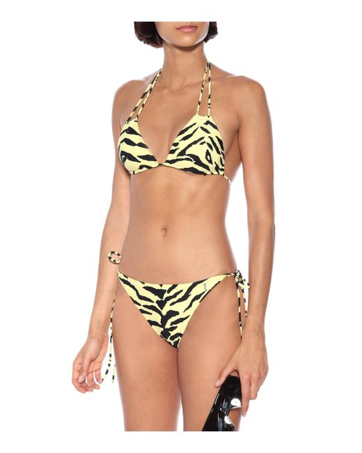 Saint Laurent Women's Zebra-print Bikini Bottoms
