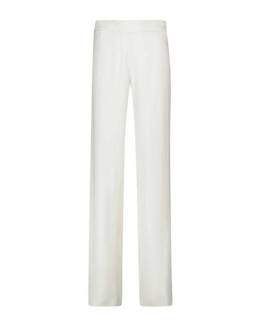 Jil Sander White High-Rise-Hose mit weitem Bein