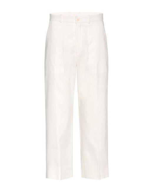 Chloé - White Flared Silk-Blend Pants - Lyst