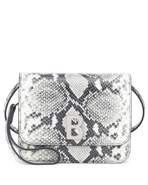 Balenciaga Black B. Small Snake-effect Leather Shoulder Bag