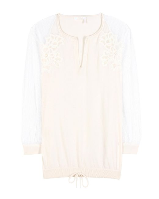 Chloé - White Cotton And Silk Blouse - Lyst