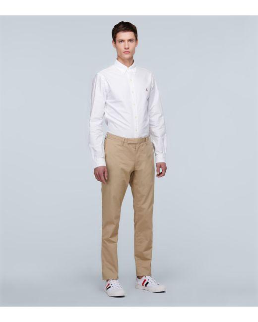 Polo Ralph Lauren Pantalon slim en coton homme de coloris neutre