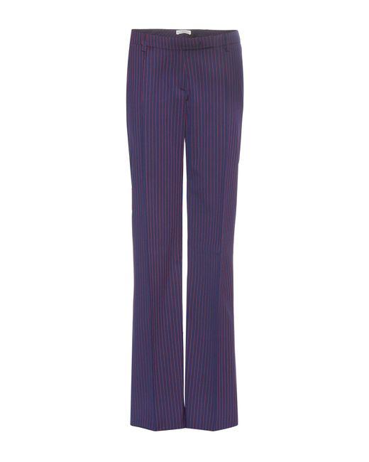 Altuzarra | Blue Wide-leg Wool Trousers | Lyst