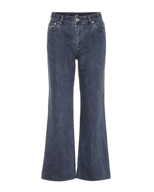 A.P.C. | Blue Cropped Jeans | Lyst