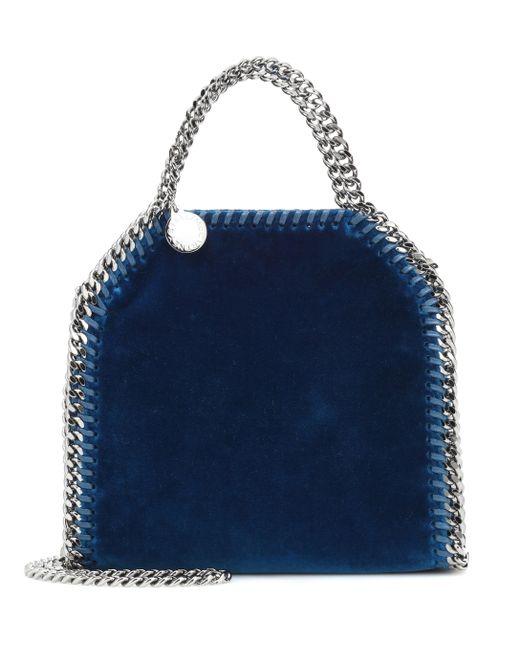 Stella McCartney - Blue Falabella Velvet Shoulder Bag - Lyst