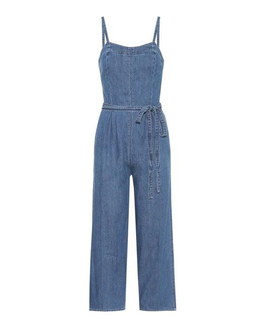 AG Jeans - Blue Denim Jumpsuit - Lyst