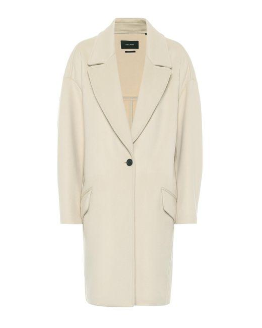 Isabel Marant Natural Ego Wool-blend Coat