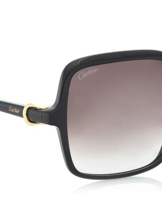 Occhiali da sole Signature C di Cartier in Black
