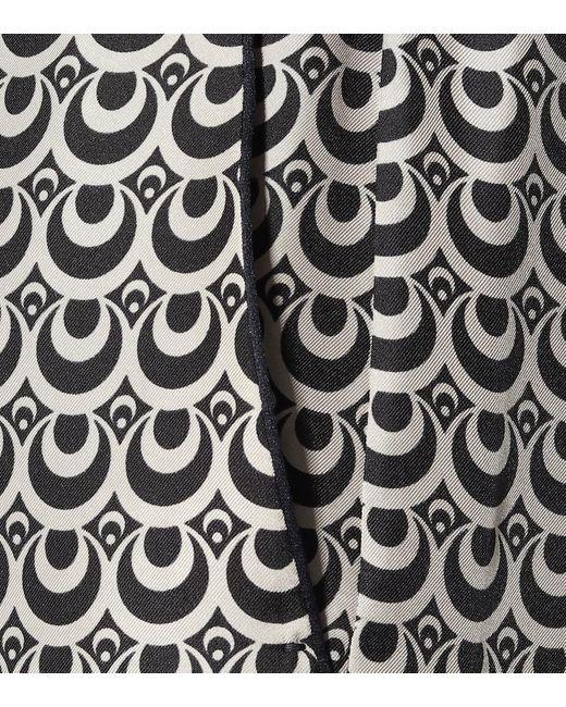 Pantaloni Markus a stampa in seta di Max Mara in Multicolor