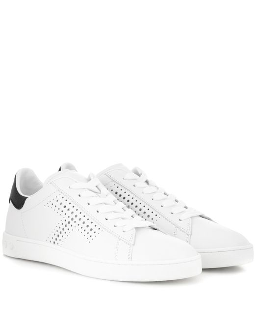 Tod's | White Leather Sneakers | Lyst