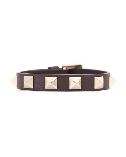 Valentino | Red Garavani Rockstud Leather Bracelet | Lyst