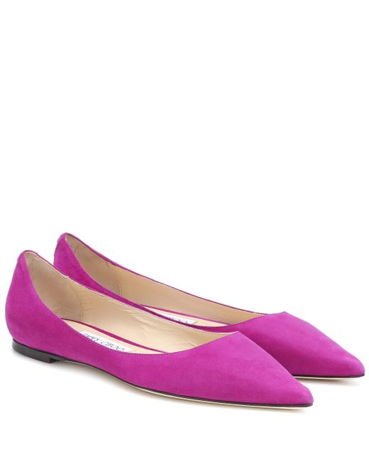 Jimmy Choo Multicolor Exclusive To Mytheresa – Love Suede Ballet Flats