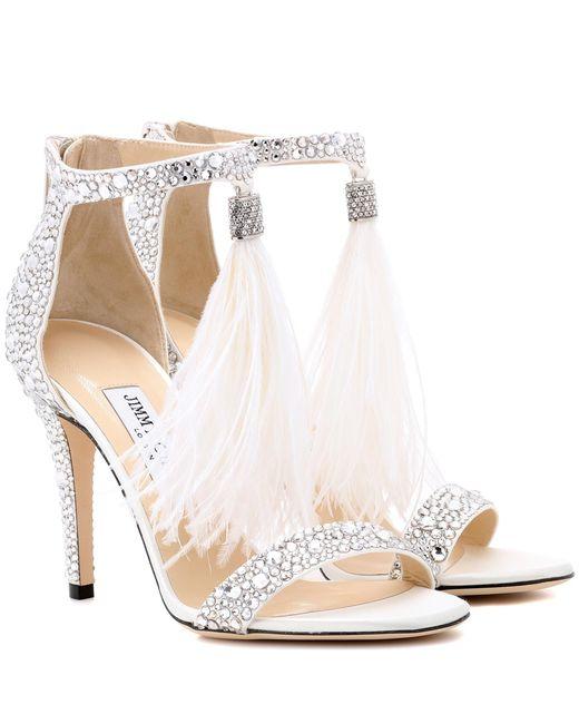 Jimmy Choo Metallic Viola 100 Embellished Sandals