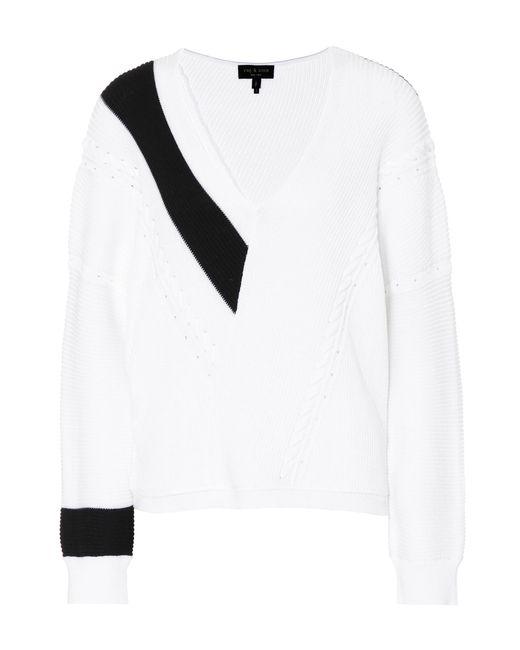Rag & Bone - White Cricket V-neck Cotton Sweater - Lyst