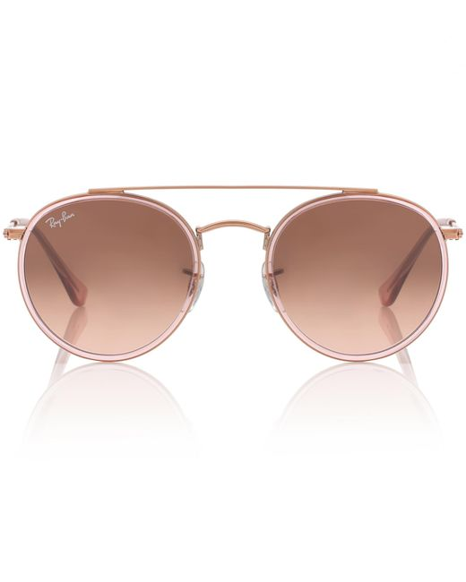 Ray-Ban - Pink Round Double Bridge Sunglasses - Lyst
