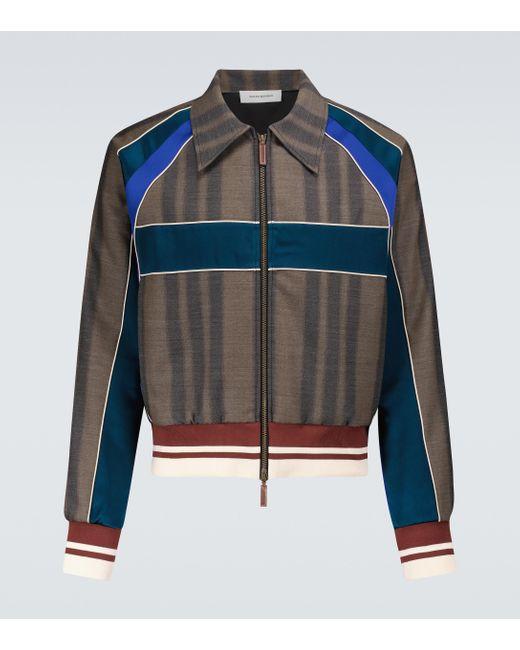 Wales Bonner Multicolor Isaacs Paneled Blouson Jacket for men