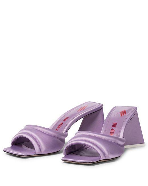 Sandali Devon in raso di The Attico in Purple