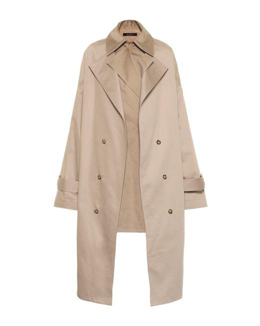 ROKH Natural Cotton-twill Coat