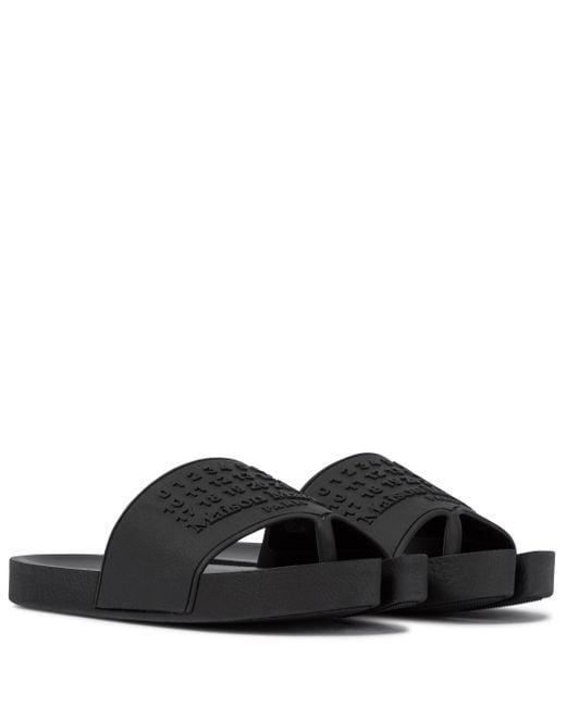 Maison Margiela Black Tabi Rubber Slides
