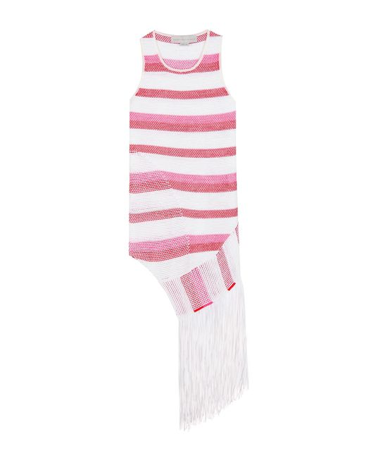 Stella McCartney - Pink Fringed Knitted Top - Lyst