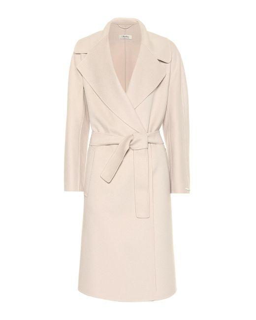 Max Mara White Dada Virgin Wool Coat