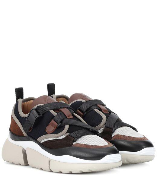 Chloé - Brown Sonnie Sneakers - Lyst