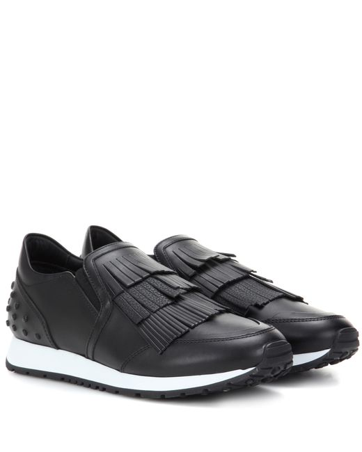 Tod's | Black Leather Sneakers | Lyst