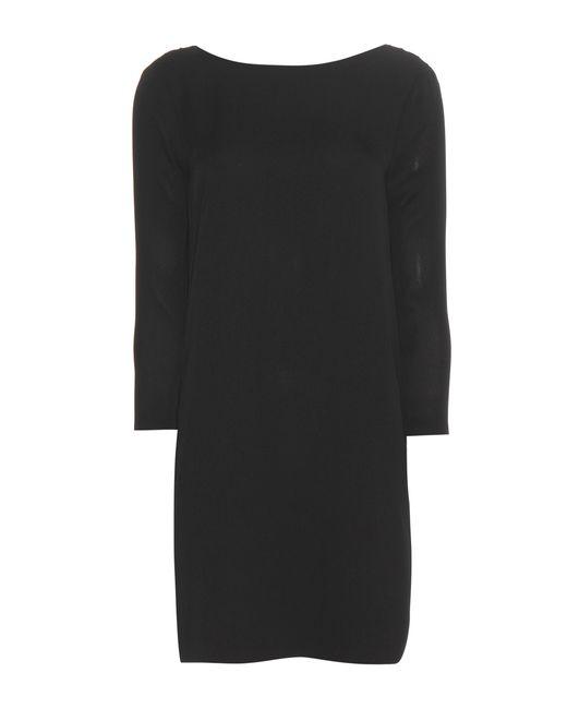 Tom Ford - Black Silk Crêpe Dress - Lyst