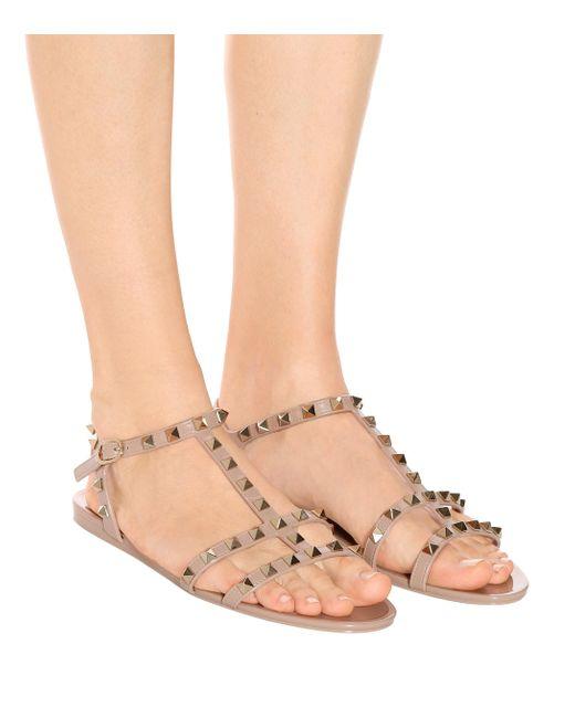 valentino jelly sandals pink