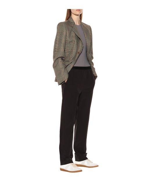 Pantalon à taille haute Maison Margiela en coloris Black