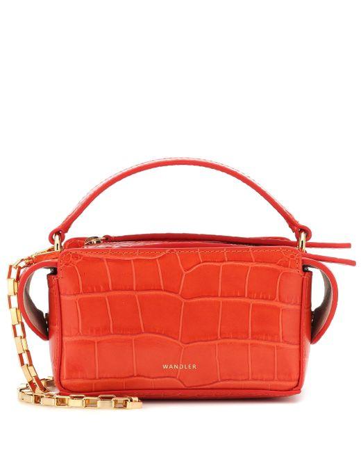 Wandler Orange Yara Box Leather Shoulder Bag