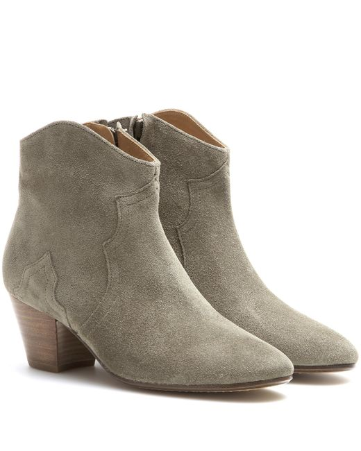 Isabel Marant - Brown Dicker Suede Ankle Boots - Lyst