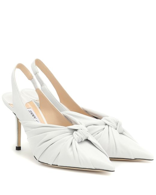 Escarpins Annabell 85 en cuir Jimmy Choo en coloris White