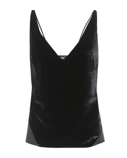 Lucy velvet camisole J Brand de color Black