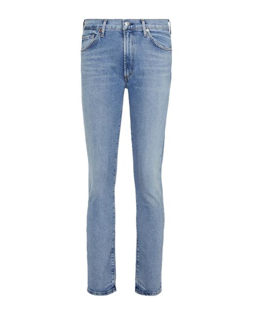 Citizens of Humanity Blue Skyla Mid-rise Slim Jeans