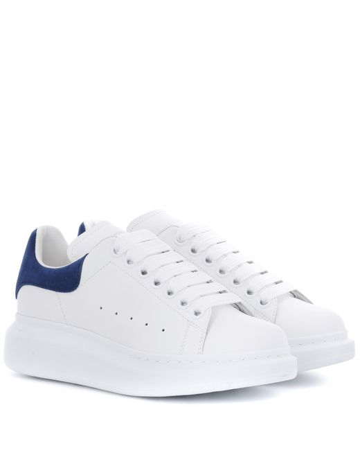 Alexander McQueen - White Leather Sneakers - Lyst