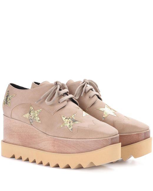 92e5a3d75a47 Stella mccartney Elyse Star Platform Derby Shoes in Natural