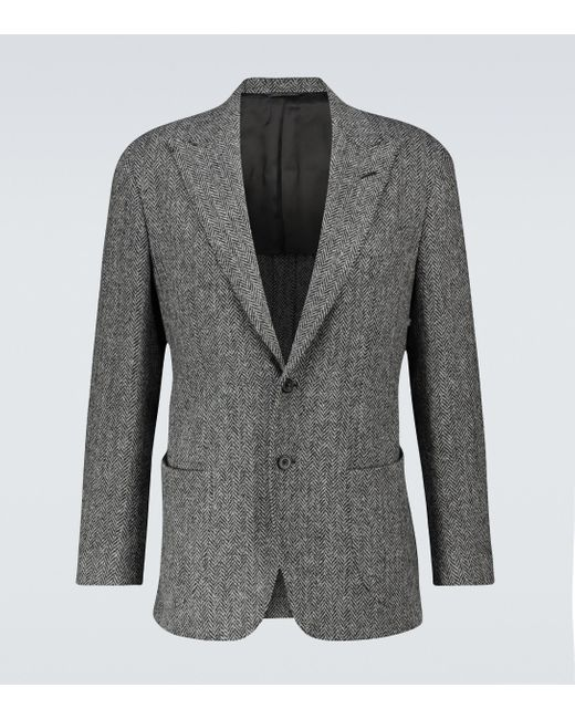 Blazer Harris Tweed en laine Thom Sweeney pour homme en coloris Gray