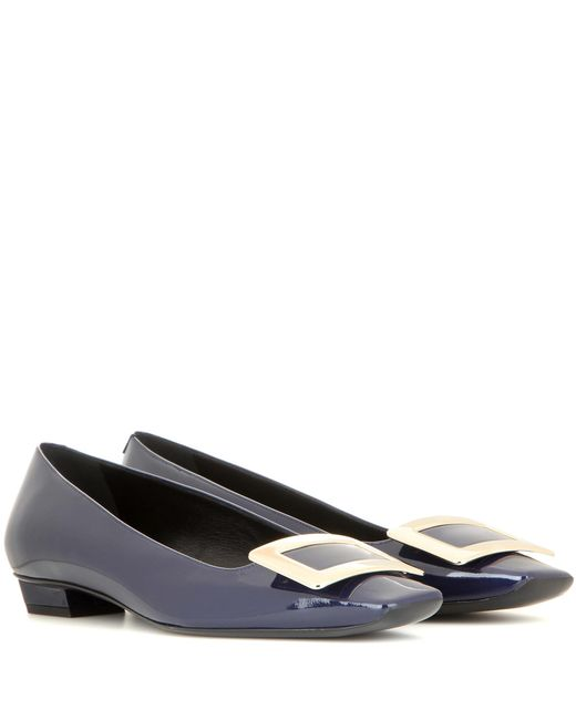 Roger Vivier - Blue Belle Vivier Patent Leather Ballerinas - Lyst