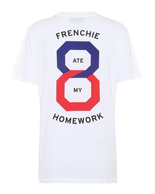 Être Cécile White Printed Cotton T-shirt