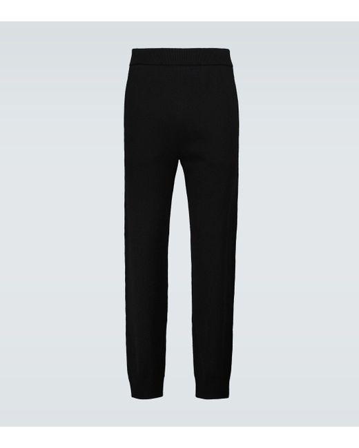 The Row Black Divier Cashmere Pants for men
