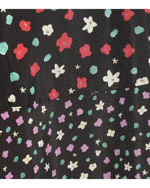 Abito Bille a stampa in cotone e seta di Rixo in Multicolor