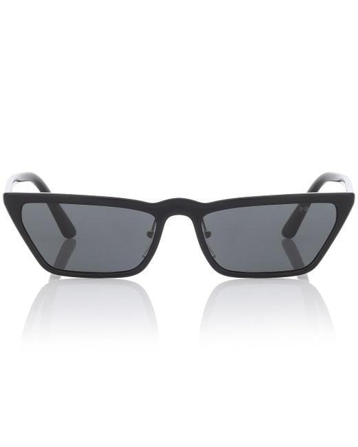 Prada Black Ultravox Cat-eye Sunglasses