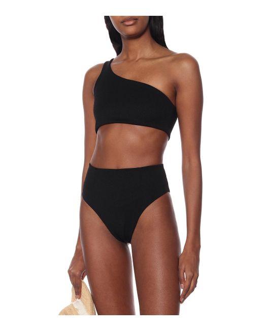 Haight Women's Black Perlin One-shoulder Bikini