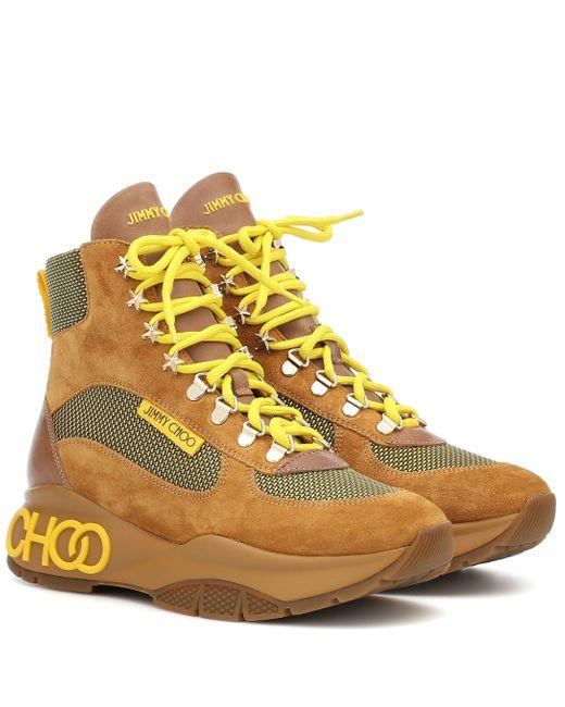 Jimmy Choo Yellow 'Inca' Hiking-Boots